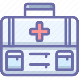 briefcase, first aid, medical, suitcase icon