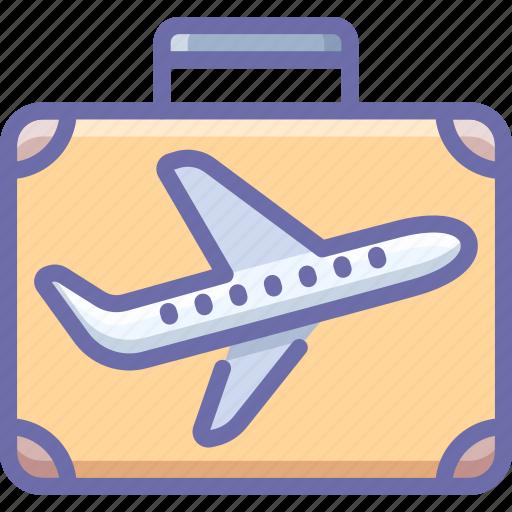 business, flight, suitcase, travel icon