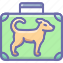 baggage, dog, flight, luggage icon