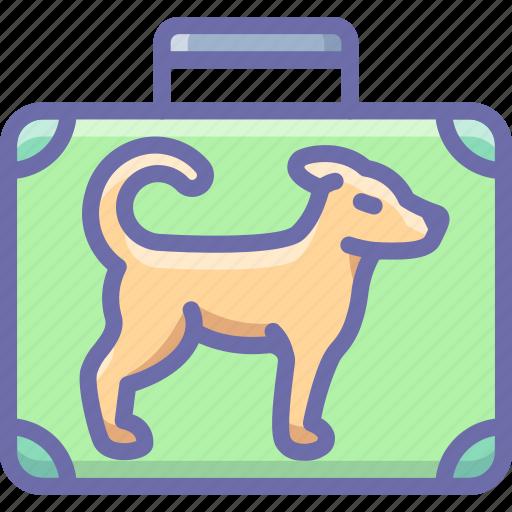 baggage, dog, flight, luggage icon