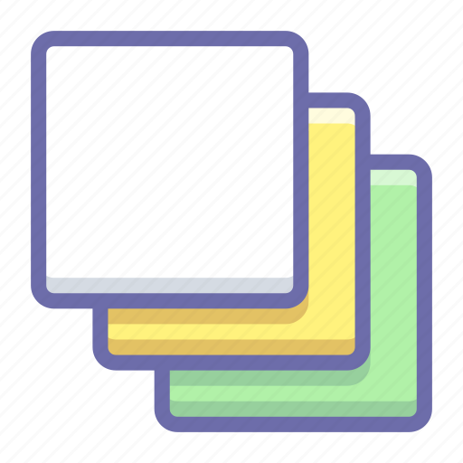 cascade, group, layers icon