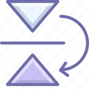 flip, mirror, vertical icon
