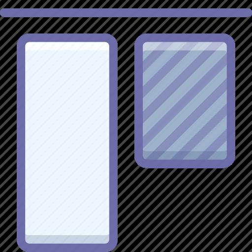 align, top, vertical icon