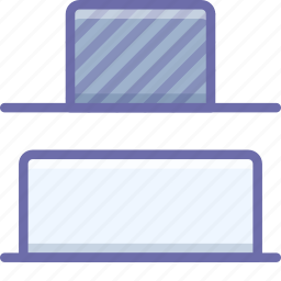 bottom, distrib, vertical icon