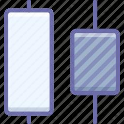 center, distrib, horizontal icon