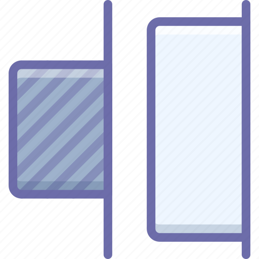 distribute, horizontal, right icon