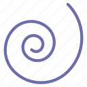 shape, spiral icon