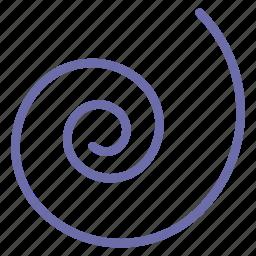 shape, spiral icon