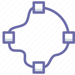 path, points, shape icon
