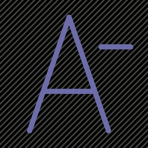 decrease, font icon