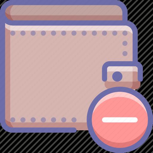 delete, money, wallet icon