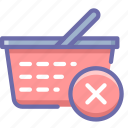 basket, delete, shopping icon
