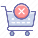 checkout, delete, shopping cart icon