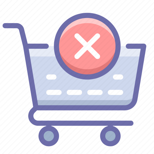 checkout, delete, shopping cart icon