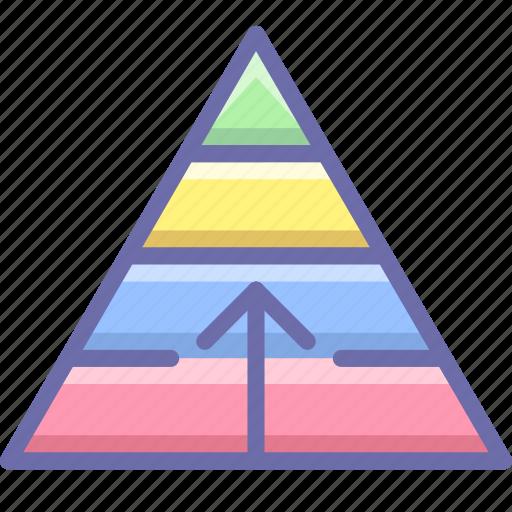 career, growth, pyramid icon