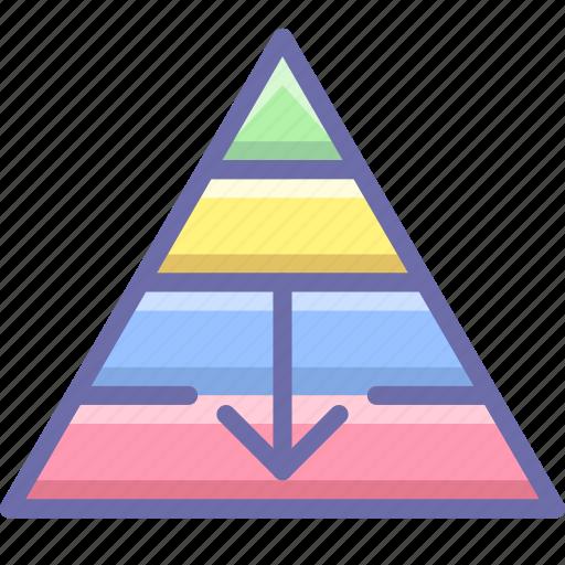 career, fall, pyramid icon