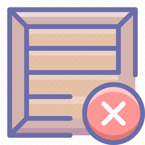 box, delete, product icon