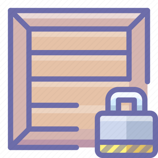 box, lock, product icon