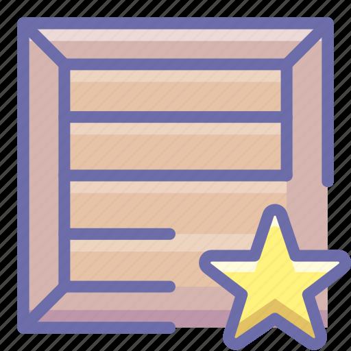 box, favorite, product icon