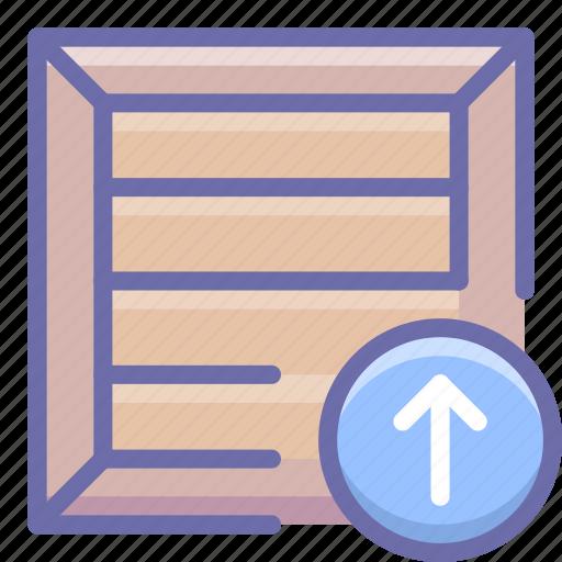 box, product, upload icon