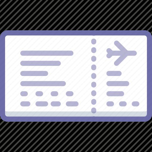 flight, plane, ticket icon