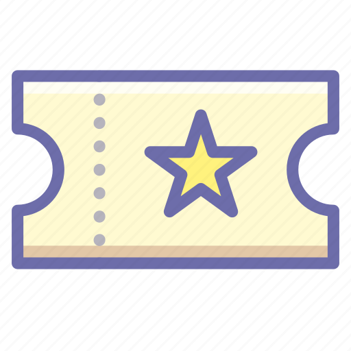 movie, ticket icon