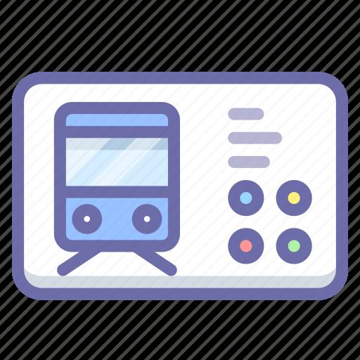 Railroad, ticket, transport icon - Download on Iconfinder