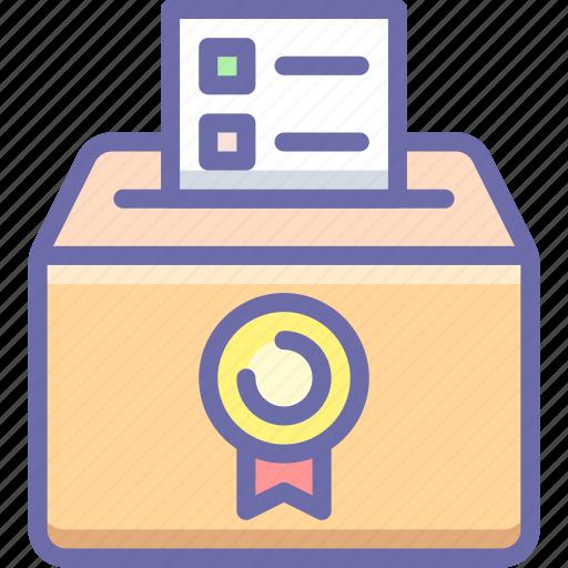 ballot, box, elections icon