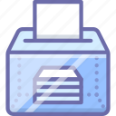 ballot, box, elections icon
