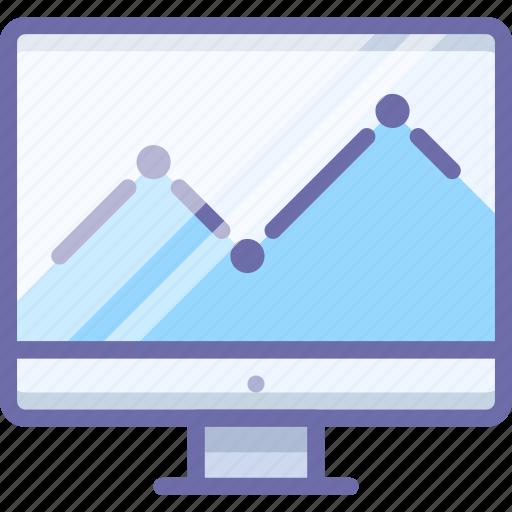 analytics, display, graph icon