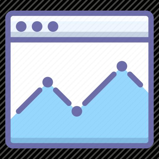analytics, graph, website icon
