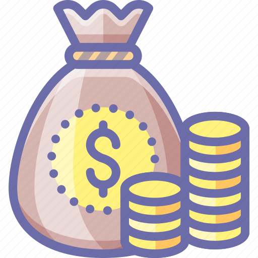 Bag, coins, money icon - Download on Iconfinder