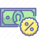 credit, money, percent icon