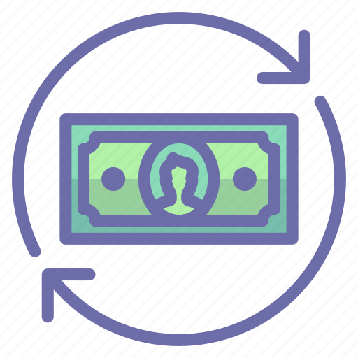 flow, money, transfer icon