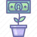 growth, money, tree icon