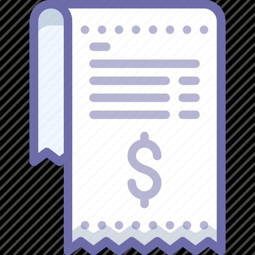 invoice, money, receipt icon