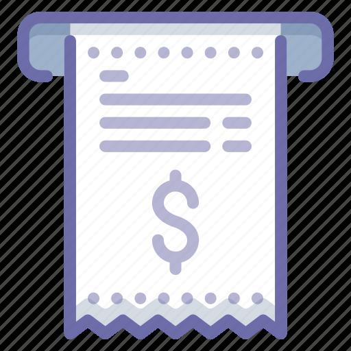 Bill, finance, receipt icon - Download on Iconfinder