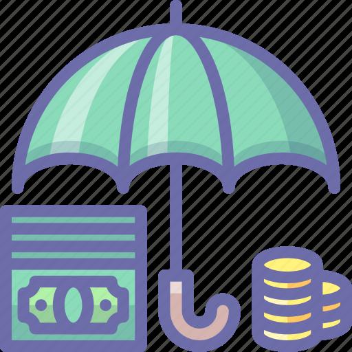 Deposit, money, umbrella icon - Download on Iconfinder