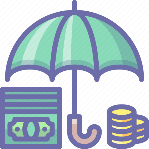 deposit, money, umbrella icon