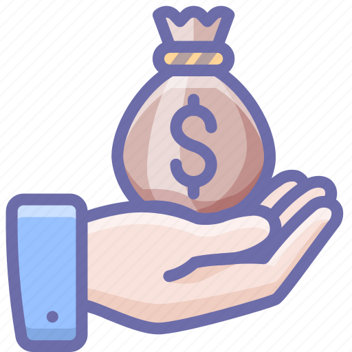 bag, hand, money icon