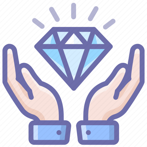 Diamond, hands, care icon - Download on Iconfinder