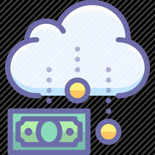 budget, cloud, funding, money icon