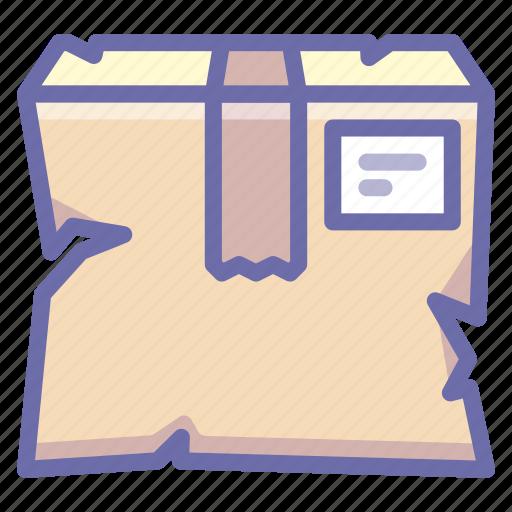 box, broken, product, smashed icon
