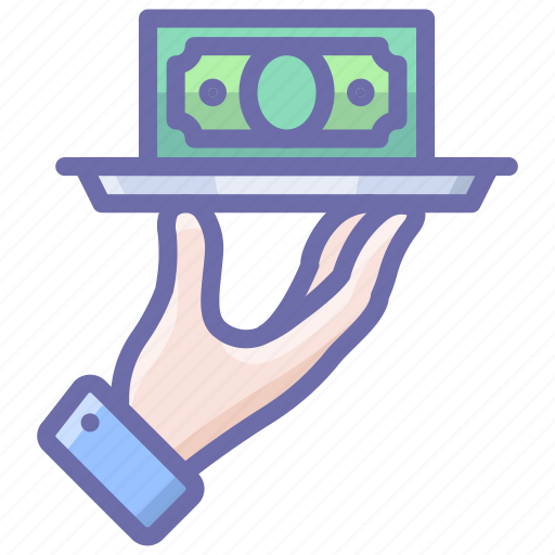 Hand, money, tray icon - Download on Iconfinder