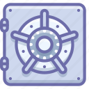bank, deposit, safe icon