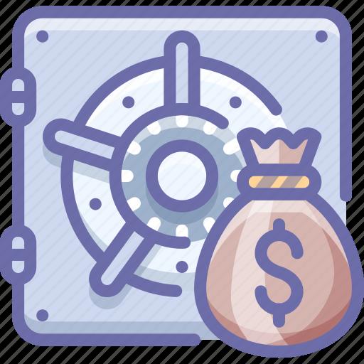 bag, bank, money, safe icon
