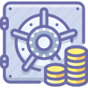 bank, deposit, money, safe icon