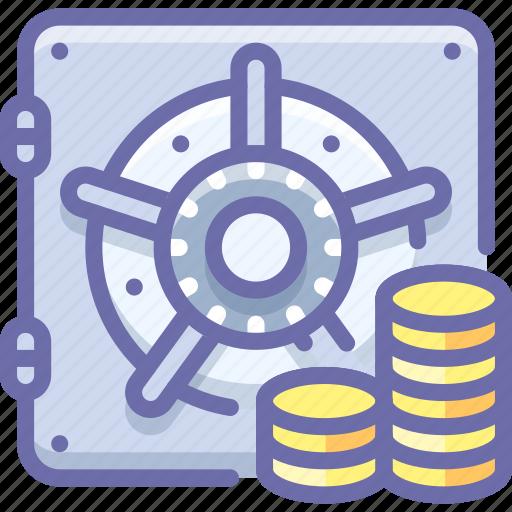 bank, deposit, money, safe icon