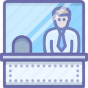 cashier, ticket, window icon
