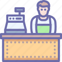 cashier, shop, store icon